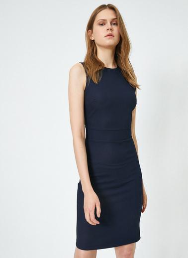Koton Kolsuz Klasik Elbise Lacivert